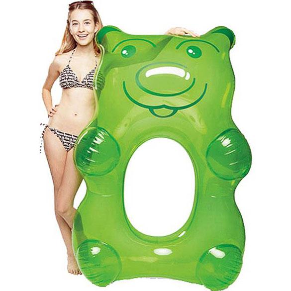 Flotador gigante modelo oso verde
