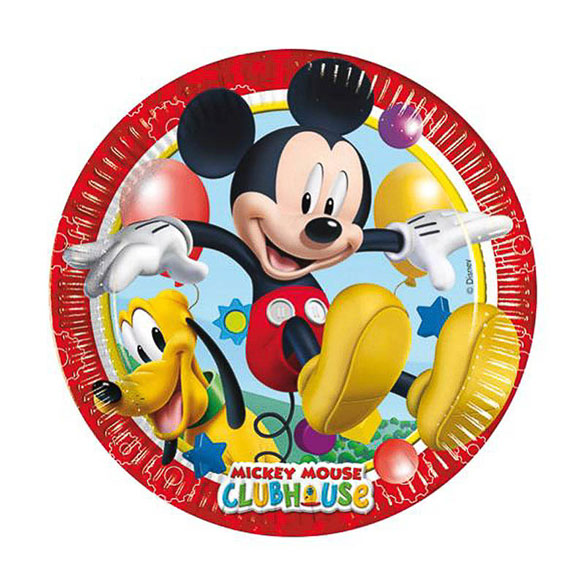 Platos Mickey Mouse 20 cm, Pack 8 u.