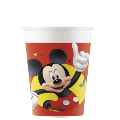 Vasos Mickey plástico 200 ml, Pack 8 u.