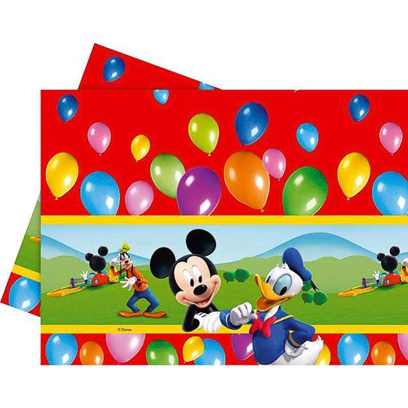 Mantel Mickey Mouse 180 x 120 cm plástico, Pack 1 u.