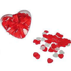Confeti corazones de tela