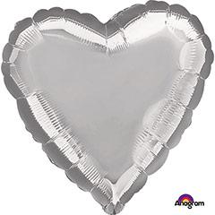 Globo Corazón Plata