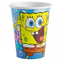 Vasos Bob Esponja 266 ml, Pack 10 u.
