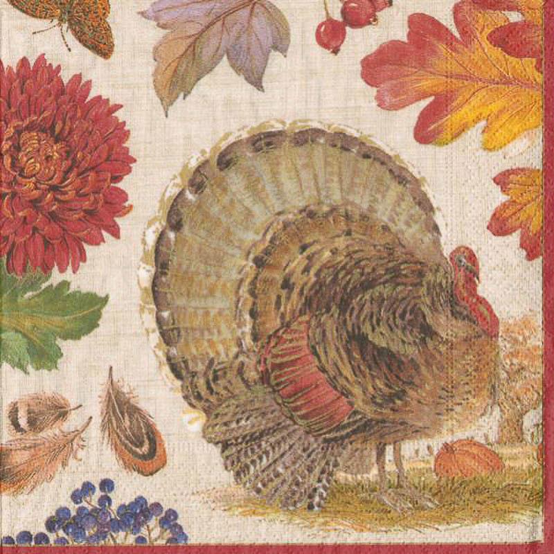 Servilletas Acción de Gracias 33 x 33 cm, Pack 20 u.