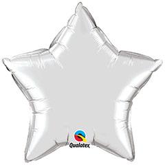 Globo Estrella Plateada