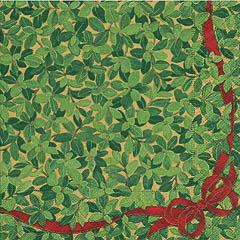 Servilletas Flores Verdes Navidad 25 x 25 cm, Pack 20 u.