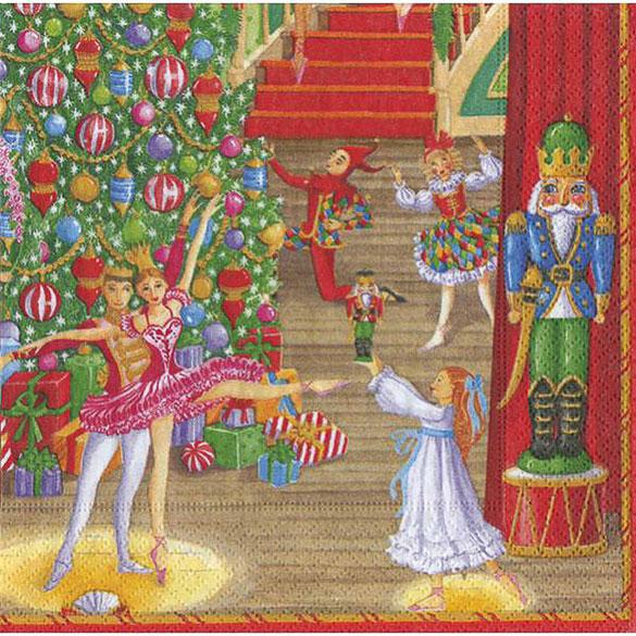 Servilletas Circo Ballet 25 x 25 cm, Pack 20 u.