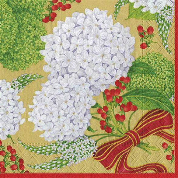 Servilletas Liberty flores 25 x 25 cm, Pack 20 u.