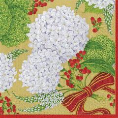 Servilletas Hortensia Navidad 40 x 40 cm, Pack 20 u.