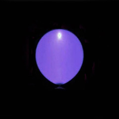 Globos de Látex Luz Led de color Morado. Pack 5 unidades