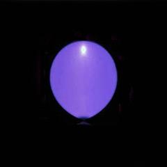 Globos de Látex Luz Led de color Morado. Pack 5 unidades