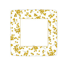 Platos Navidad cuadrados 18,00 cm, Pack 8 u.