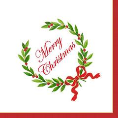 Servilletas Merry Christmas 25 x 25 cm, Pack 20 u.
