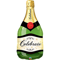 Globo forma Botella de Champagne o Cava