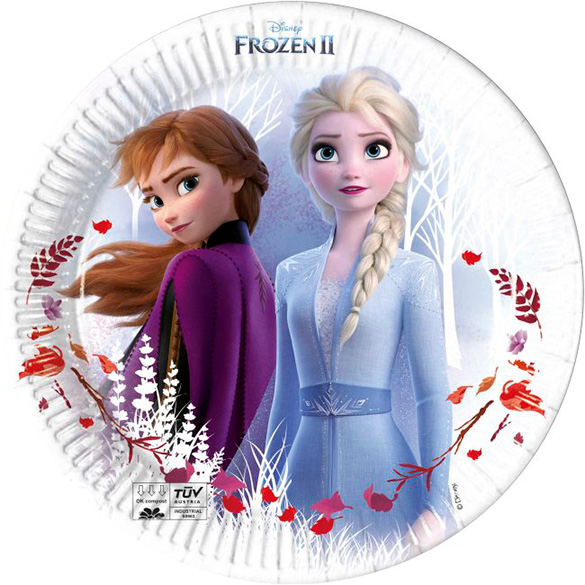 Platos Frozen 23 cm, Pack 8 u.