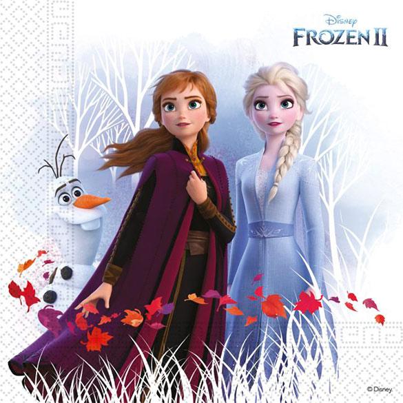 Servilletas Frozen 33 x 33 cm, Pack 20 u.