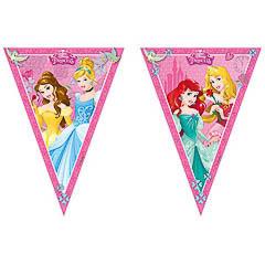 Guirnalda banderín triangular Princesas Disney