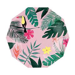Platos Tropicales 18,00 cm, Pack 8 u.