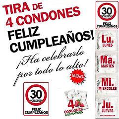 Preservativos feliz 30 cumpleaños