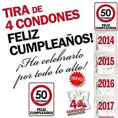 Preservativos feliz 50 cumpleaños