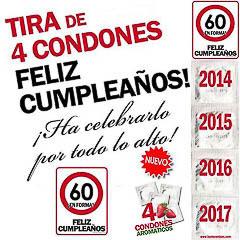 Preservativos feliz 60 cumpleaños