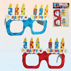 Gafas de cartón Happy Birthday