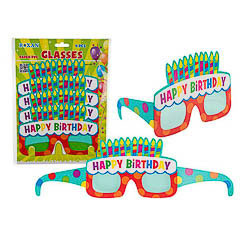 Gafas de cartón Happy Birthday