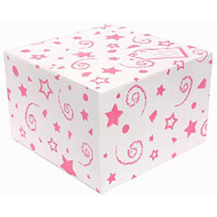 Caja para globoblanca con lunares rosa