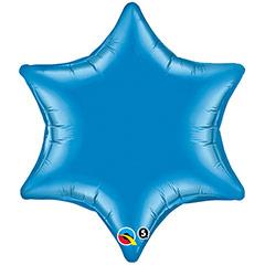 Globo Estrella Azul 6 puntas