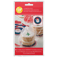 Bolsas con lazo y tarjetas para galletas de Navidad, Pack 6 u.