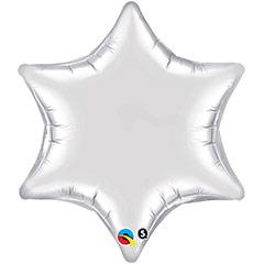 Globo Estrella Plateada 6 Puntas