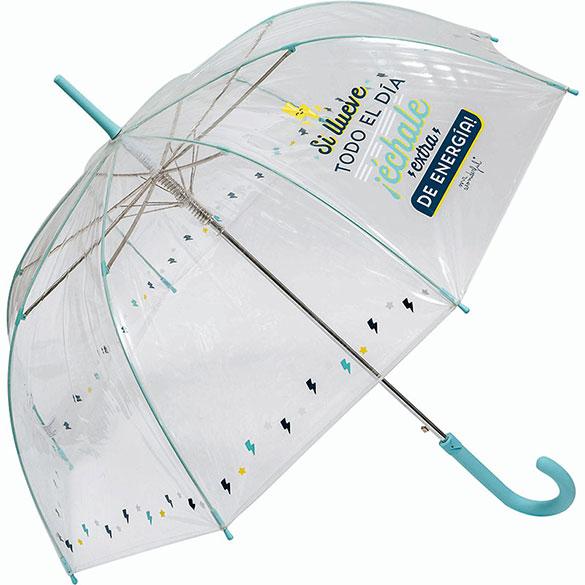 Paraguas Plegable autom/ático Mr Verde Wonderful Si llueve Todo el d/ía /¡/échale Extra de energ/ía