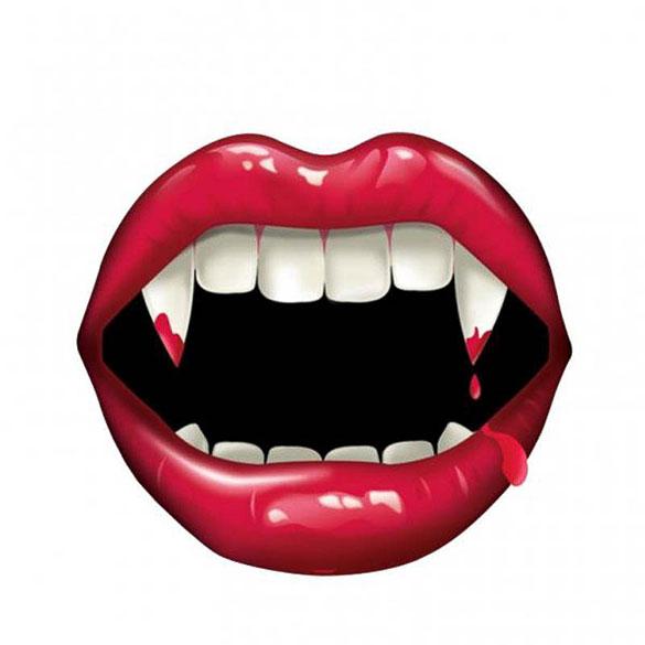 Cartel boca vampiro Halloween