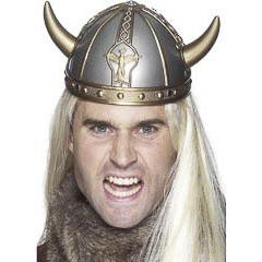 Casco vikingo cuernos cortos