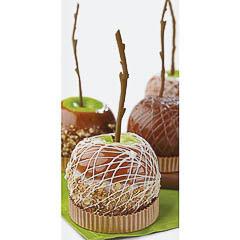 Decoración manzanas caramelizadas