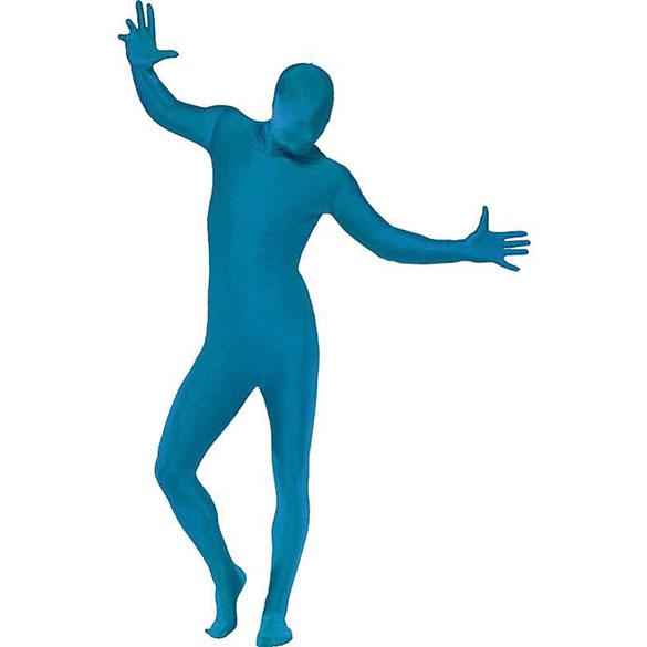 Disfraz sombra, malla azul