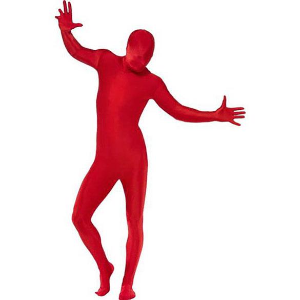 Disfraz sombra, malla roja