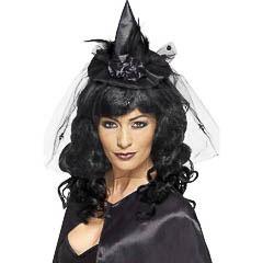 Diadema sombrero de bruja mini