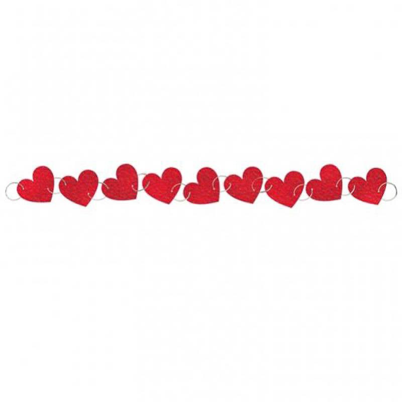 Guirnalda corazones con anillas