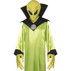 Set máscara y manos alienígena