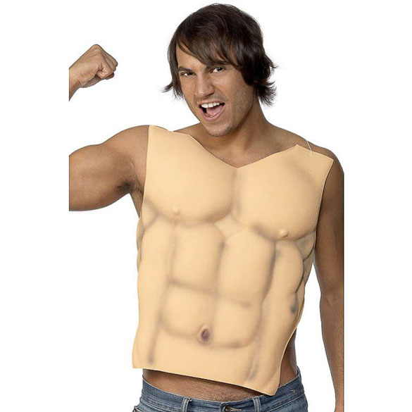 Pectoral hombre musculoso