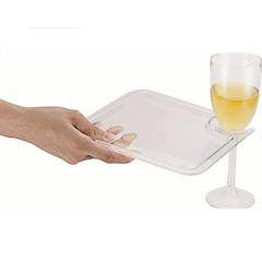 Plato para cóctel con espacio para sujetar copa