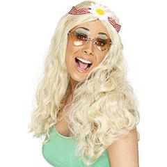 Peluca rubia hippie
