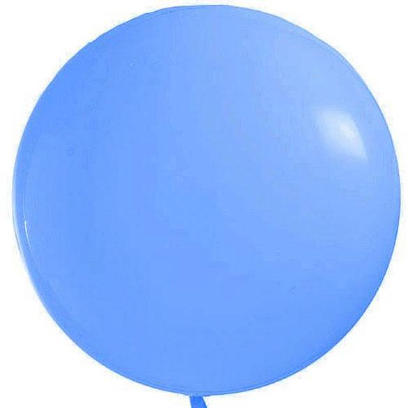 Globo de látex Azul cielo extra grande 90 cm. 1 unidad