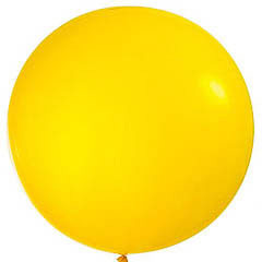 Globo de látex Amarillo extra grande 80 cm. 1 unidad
