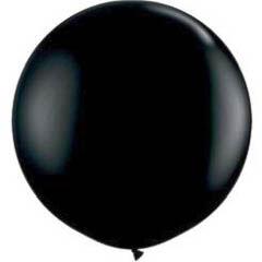 Globo de látex Negro extra grande 80 cm. 1 unidad