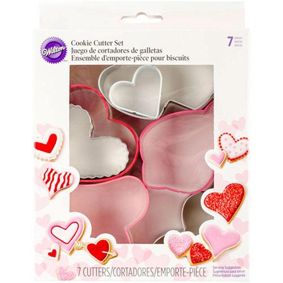 Cortadores de galletas corazones Wilton, Set 7 u.