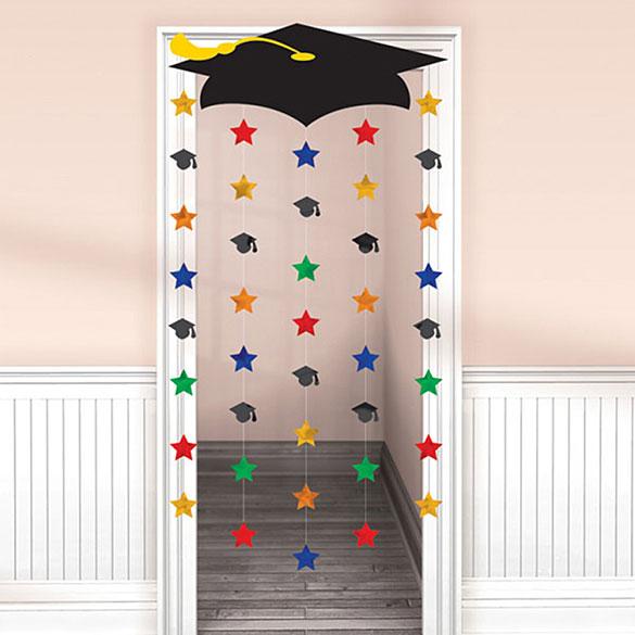 Cortina para puerta. Decoración Graduación