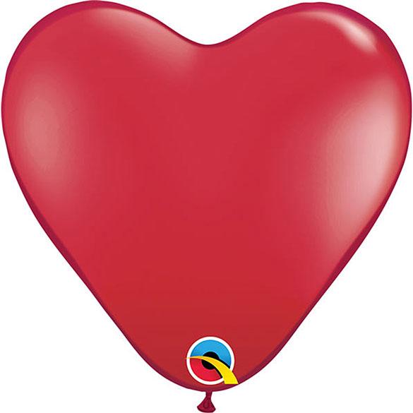 Globos rojos forma corazón, Bolsa 25 U