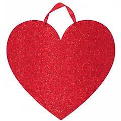 Colgante corazón rojo decorativo